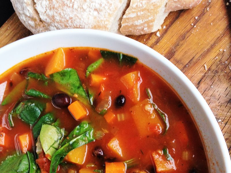 Smokey Butternut Squash & Bean Soup