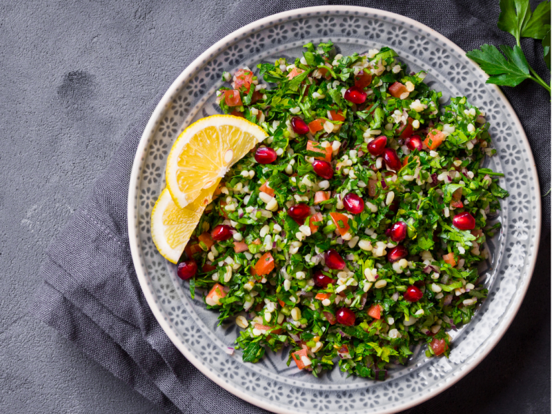 Roasted Vegetable Quinoa Tabbouleh