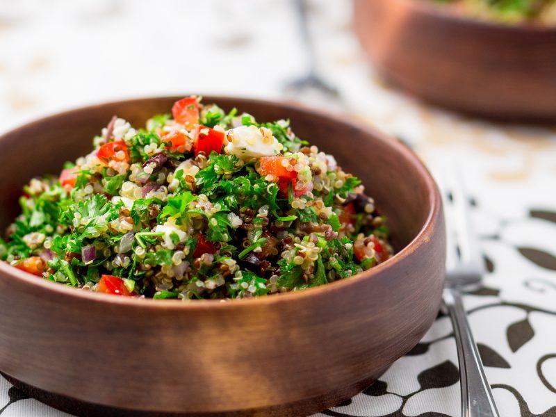 Sumac Roasted Aubergine & Quinoa Salad